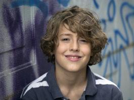 Beautiful 11 years old kid portrait