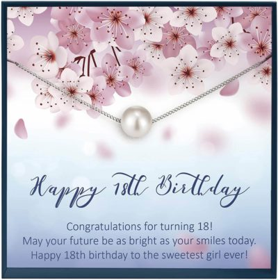 This is an image of 18th Birthday Swarovski Pearl