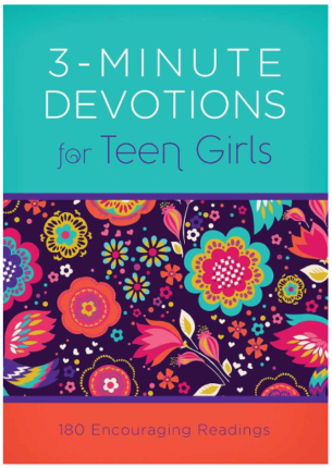 This is an image of girl's 3 minute devotion for teen book