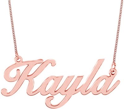 This is an image of HACOOL Custom Name Necklace