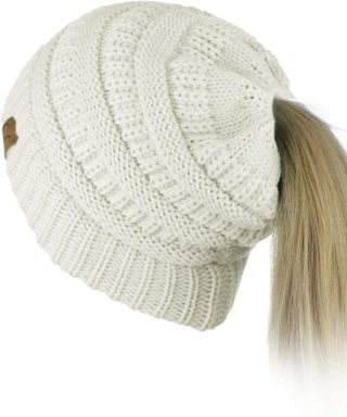 This is an image of Ponytail Beanie for Girls