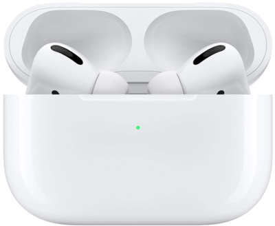 This is an image of boy's Airpods pro By Apple in white color