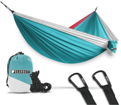 This is an image of boy's camping hammock for outdoors and backpacking in blue color