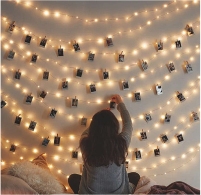This is an image of girl's lights LED operated with photos memos pack