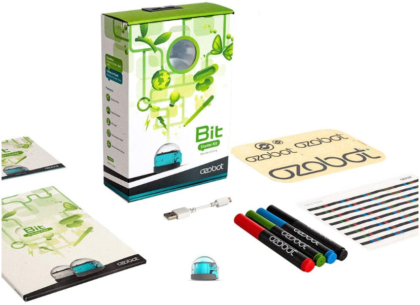 This is an image of boy's coding robot kit