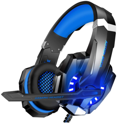 This is an image of boy's Gaming headset with mic and LED lights