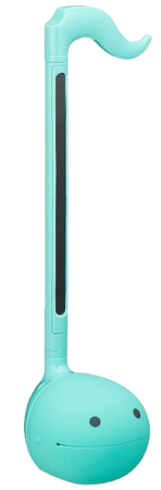This is an image of boy's Japanese otamatone instrument in blue color