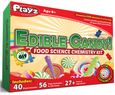 This is an image of girl's candy science STEM DIY game