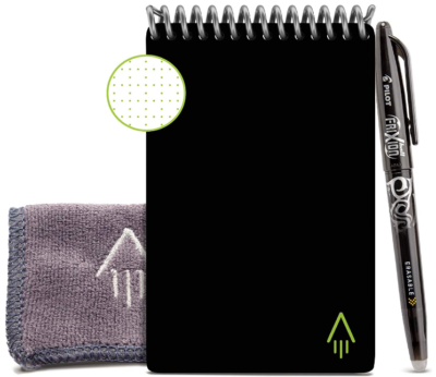 This is an image of boy's Reusable notebook in black color