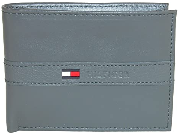 This is an image of boy's tommy hilfiger wallet in gray color