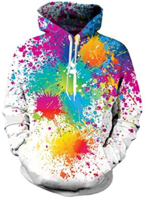 This is an image of boy's hooded sweatshirt 3D print in varicolors