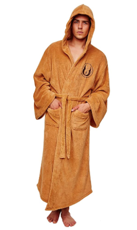 This is an image of boy's star wars jedi hooded bath