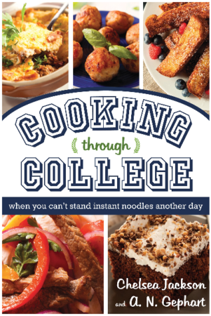 This is an image of girl's Through college when you can't stand instant noodels Cook book