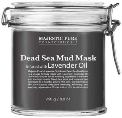 This is an image of girl's pure dead sea mask 8.8Oz